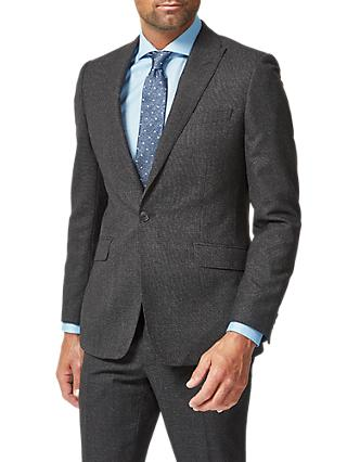 Richard James Mayfair Wool Flannel Suit Jacket, Charcoal