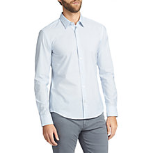 Buy BOSS Reid Stripe Long Sleeve Slim Fit Shirt, Pastel Blue Online at johnlewis.com