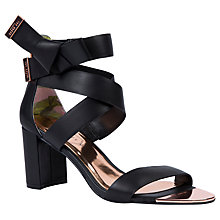 Buy Ted Baker Peyepa Block Heel Sandals, Black Leather Online at johnlewis.com