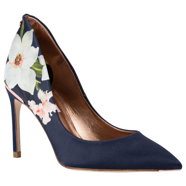 Ted Baker Saviop Chatsworth Stiletto Heel Court Shoes, Navy