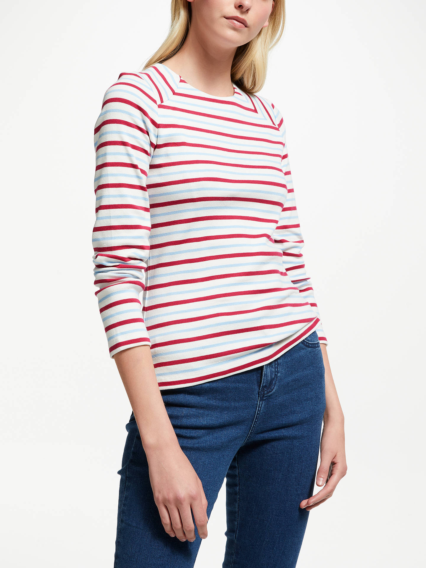 a46745292b7 BuyCollection WEEKEND by John Lewis Zip Back Breton Stripe Top