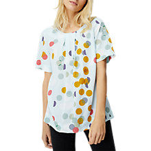 Buy White Stuff Dotty Spotty Top, Ice Blue Online at johnlewis.com