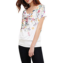 Buy Phase Eight Anneke Floral Print Top, Ivory Online at johnlewis.com
