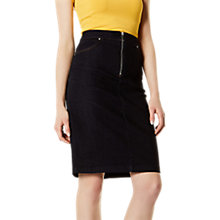 Buy Karen Millen Denim Skirt, Dark Denim Online at johnlewis.com