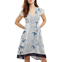 Buy Phase Eight Fay Palm Print Dress, Ivory/Multi Online at johnlewis.com