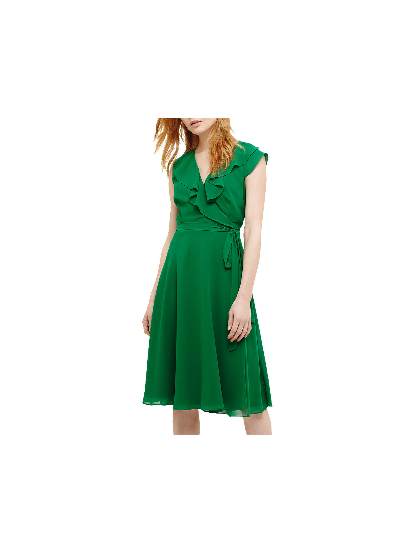 8dc0873c9c18 Buy Phase Eight Allegra Wrap Dress, Emerald, 6 Online at johnlewis.com ...
