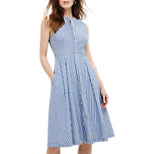 Buy Phase Eight Ajee Stripe Dress, Steel Blue/Ivory Online at johnlewis.com