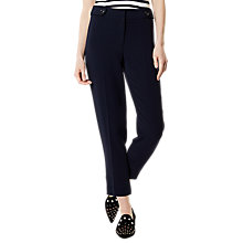 Buy Karen Millen Button Detail Trousers, Navy Online at johnlewis.com