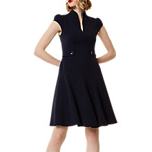 Buy Karen Millen Button Detail Dress, Navy Online at johnlewis.com