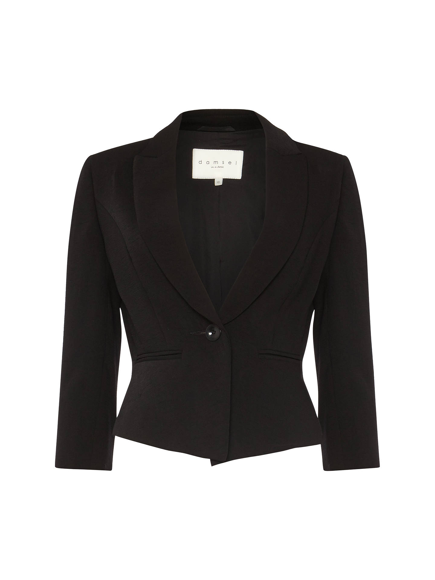 Buy Damsel in a Dress Milena Cropped Jacket, Black, 8 Online at johnlewis.com