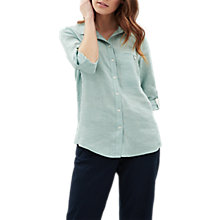 Buy Jaeger Linen Shirt, Aqua Online at johnlewis.com