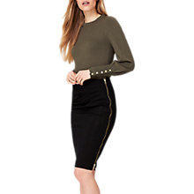Buy Damsel in a Dress Fionn Ponte Zip Skirt, Black Online at johnlewis.com