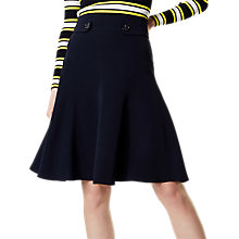 Buy Karen Millen Button Detail Skirt, Navy Online at johnlewis.com