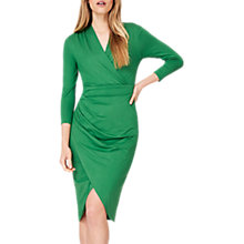 Buy Damsel in a Dress Aurelia Wrap Jersey Dress, Green Online at johnlewis.com