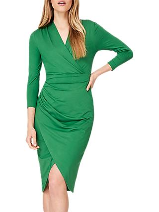 Damsel in a Dress Aurelia Wrap Jersey Dress, Green