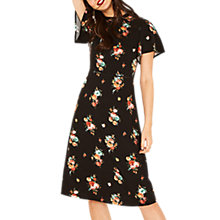 Buy Oasis Angel Sleeve Bouquet Dress, Multi/Black Online at johnlewis.com