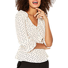 Buy Oasis Frilly Wrap Top Online at johnlewis.com
