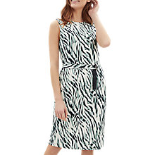 Buy Jaeger Zebra Print Jersey Dress, Aqua/Multi Online at johnlewis.com