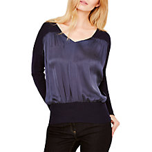 Buy Damsel in a Dress Merle Woven Front Jumper, Navy Online at johnlewis.com