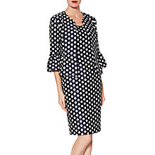 Buy Gina Bacconi Geraldine Spot Dress, Navy/White Online at johnlewis.com