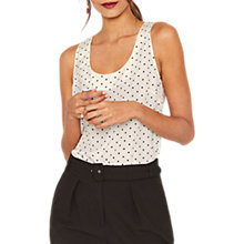 Buy Oasis Luciana Spot Vest, Multi Online at johnlewis.com