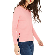 Buy Oasis Detail Hem Knit Jumper, Mid Pink Online at johnlewis.com
