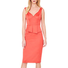 Buy Damsel in a Dress Sienna Peplum Dress, Bright Orange Online at johnlewis.com