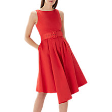 Buy Coast Isabelle Belted Dress, Red Online at johnlewis.com