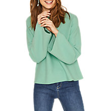 Buy Oasis Bell Sleeve Knit Jumper, Teal Green Online at johnlewis.com