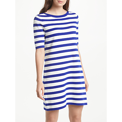 Winser London Striped Cotton Shift Dress