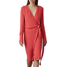 Buy Reiss Grace Wrap Dress, Watermelon Online at johnlewis.com