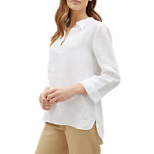 Buy Jaeger Linen Tunic Top, White Online at johnlewis.com