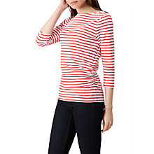 Buy Hobbs Rebecca Striped Ruched Top, White/Red Online at johnlewis.com