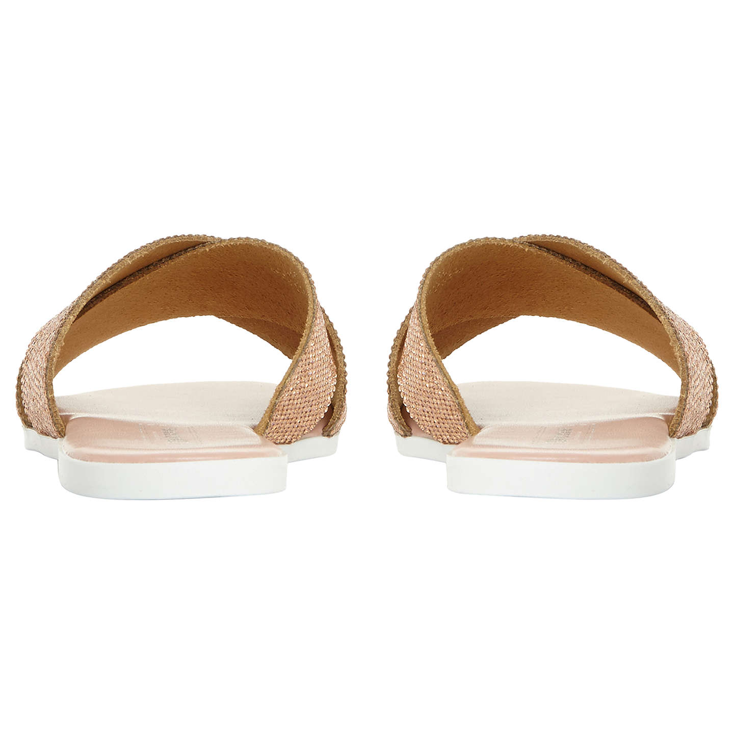 BuyDune Nevadaa Embellished Sandals, Blush, 3 Online at johnlewis.com