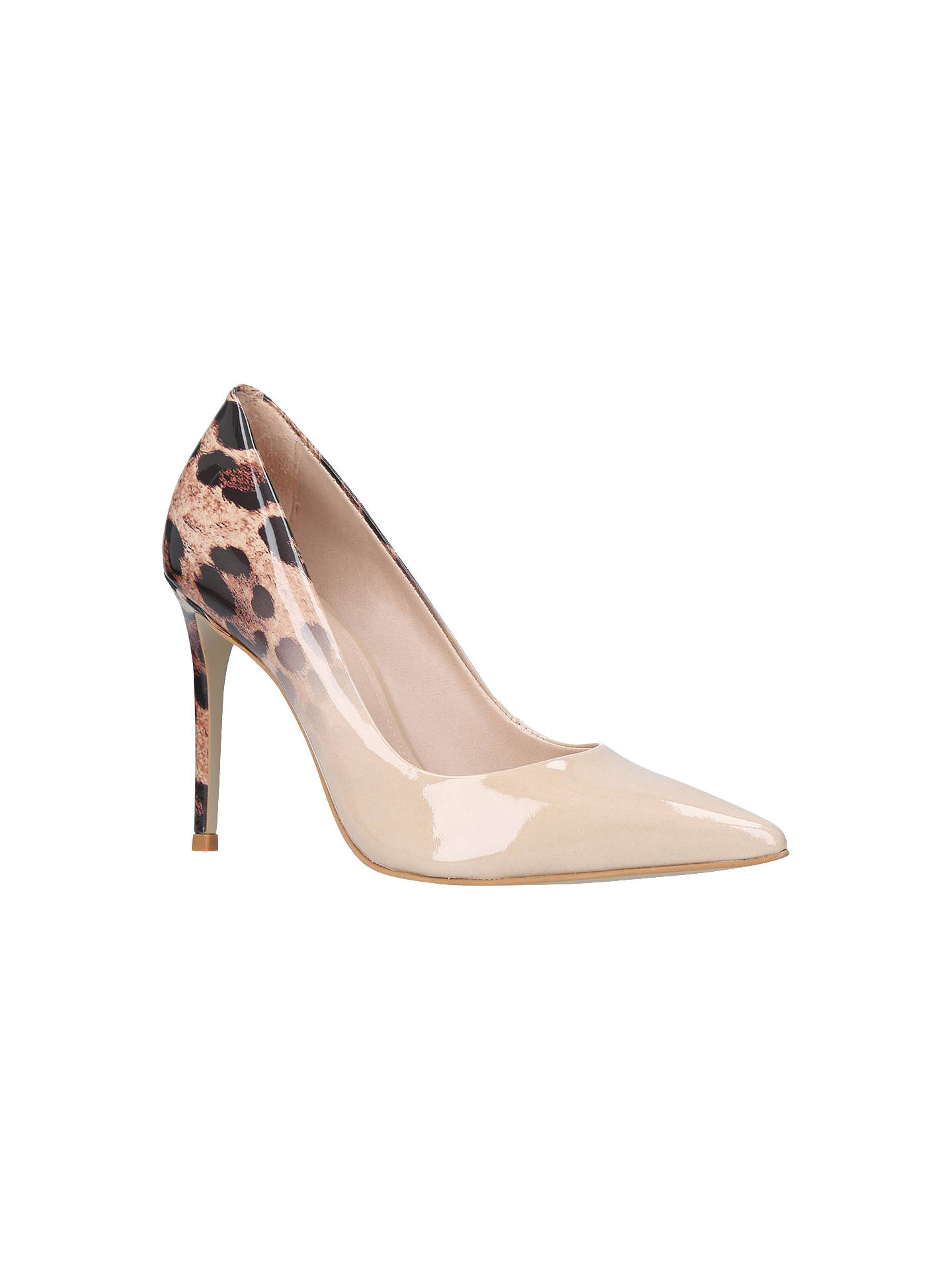 db3c62cf8110 Buy Carvela Alice Stiletto Heeled Court Shoes, Camel/Leopard, 5 Online at  johnlewis ...