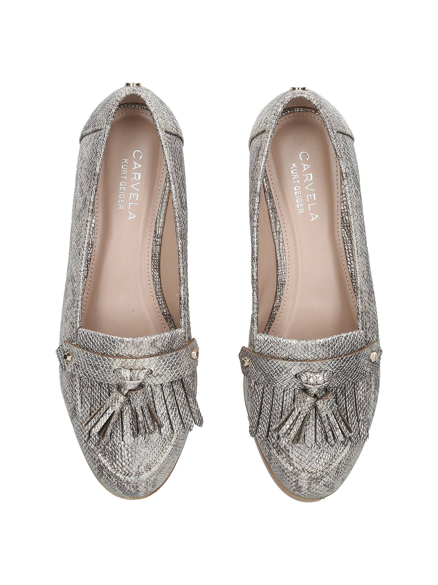 first look exquisite design discount price Carvela Magpie Tassel Loafers, Gold at John Lewis & Partners