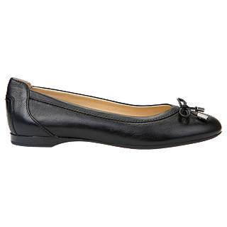 Geox Women's Lamulay Bow Ballet Pumps, Black Leather