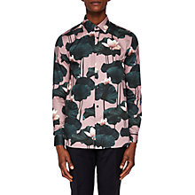 Buy Ted Baker Clarine Floral Print Slim Fit Shirt, Pink Online at johnlewis.com