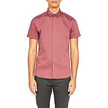 Buy Ted Baker Franko Printed Textured Short Sleeve Shirt Online at johnlewis.com