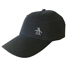 Buy Original Penguin Cotton Twill Baseball Cap, One Size, Black Online at johnlewis.com