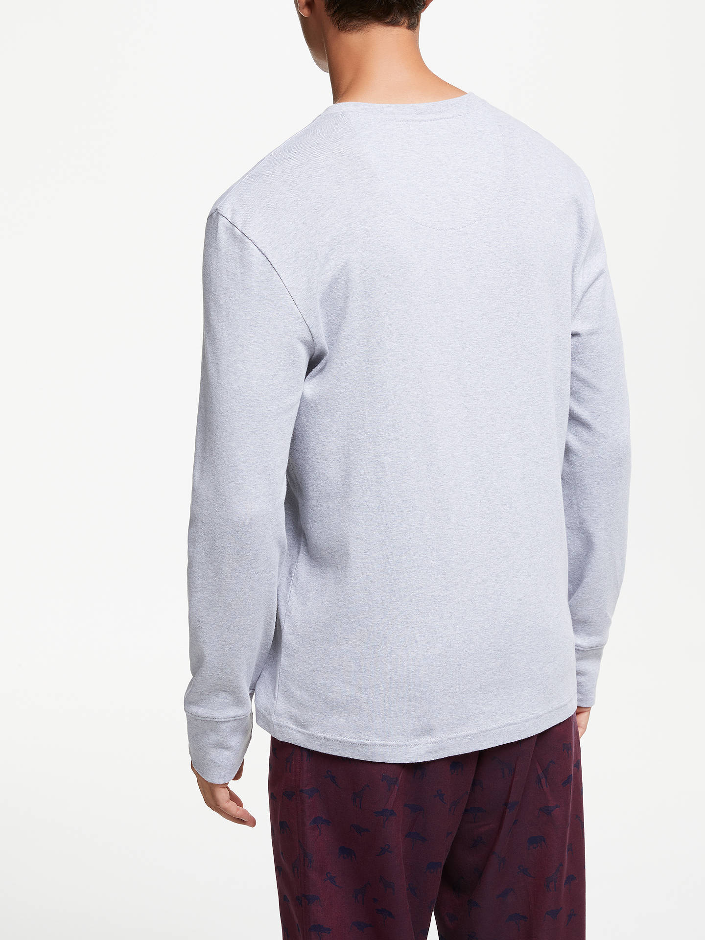 f0ad9540a2f3 ... Buy John Lewis & Partners Waffle Cotton Henley Shirt, Grey, S Online at  johnlewis ...