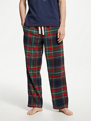 John Lewis & Partners Large Check Brushed Cotton Pyjama Pants, Multi