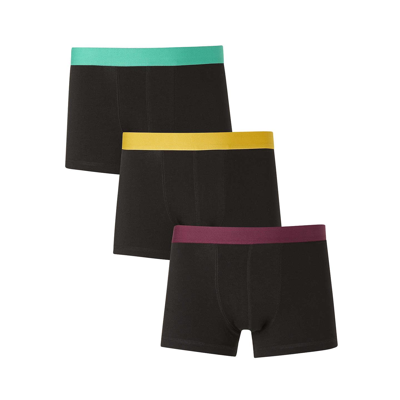 Buyjohn Lewis Colour Waistband Trunks, Pack Of 3, Light Greenyellowpurple