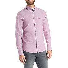 Buy BOSS Epreppy Long Sleeve Slim Fit Shirt, Dark Purple Online at johnlewis.com