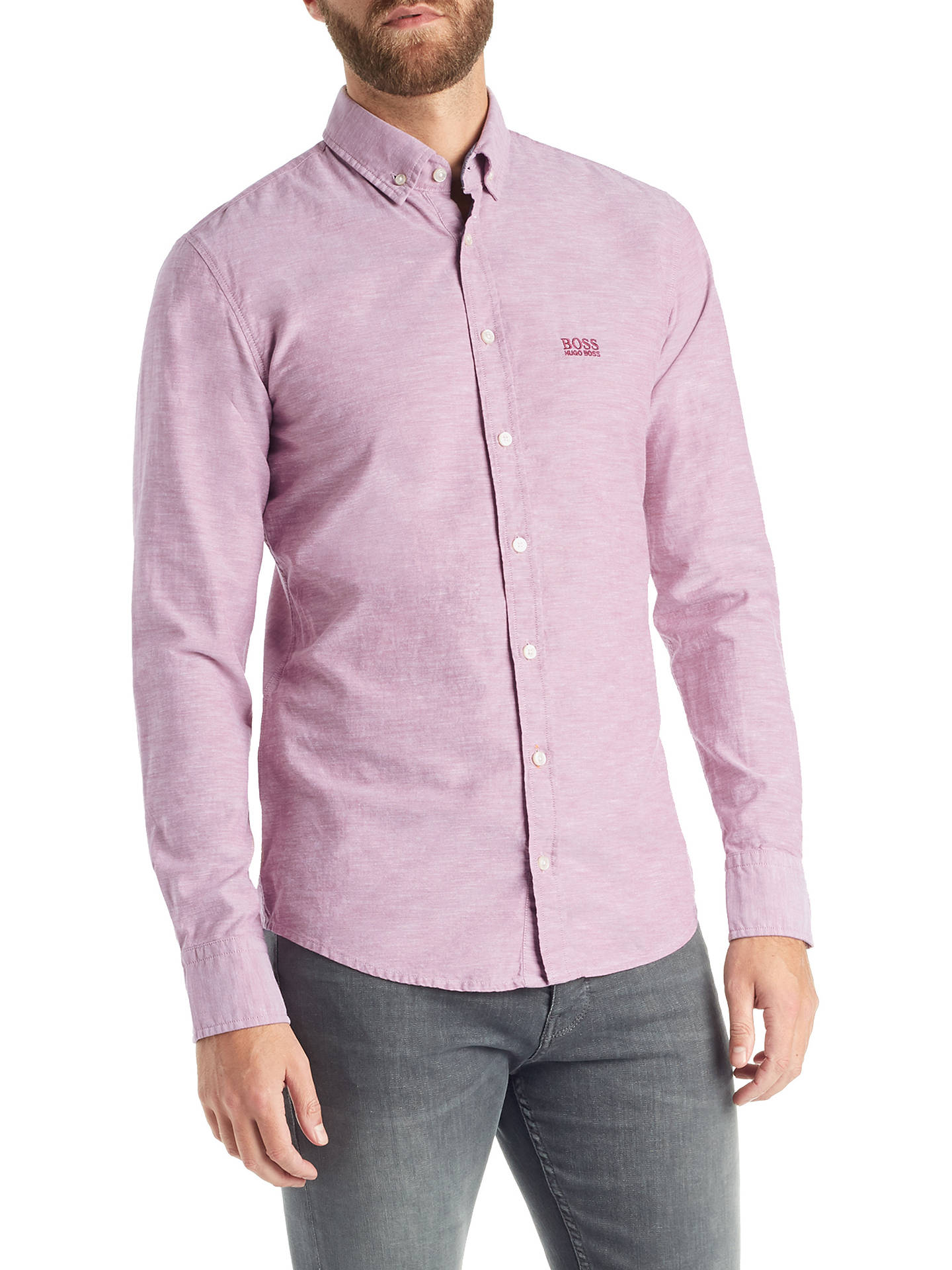 genuine 100% high quality arriving BOSS Epreppy Long Sleeve Slim Fit Shirt at John Lewis & Partners
