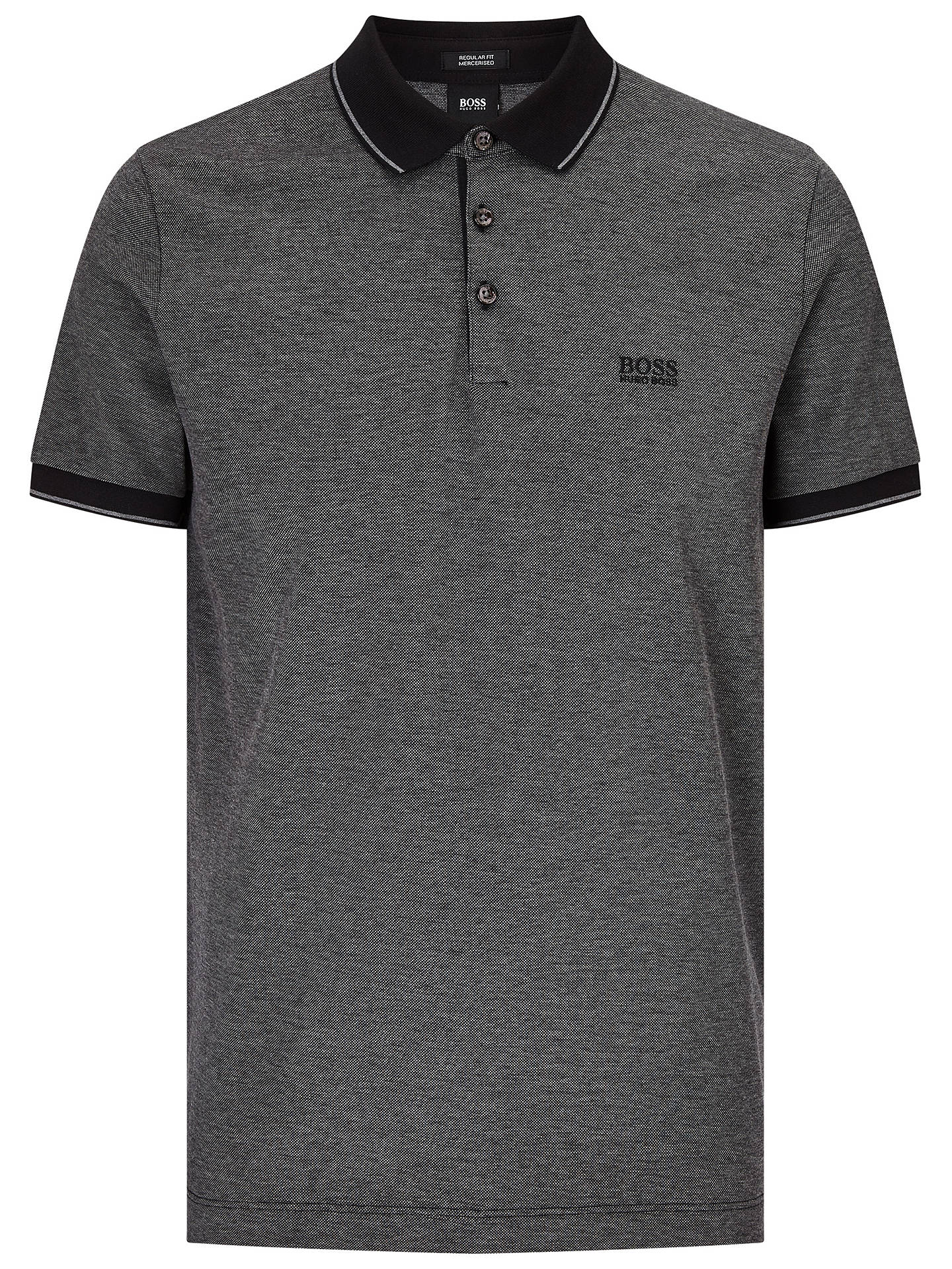 cb1ec3a7 ... Buy BOSS Prout Short Sleeve Polo Shirt, Black, S Online at  johnlewis.com ...