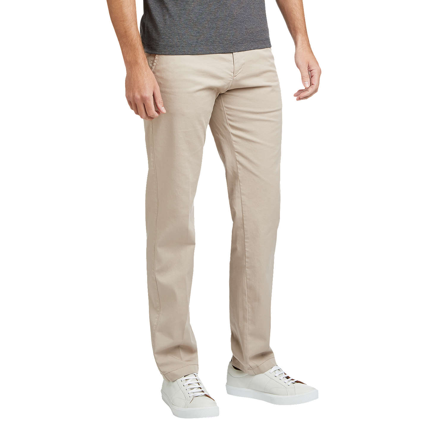 BuyBOSS Crigan3-D Tapered Chinos, Open Beige, 30R Online at johnlewis.com