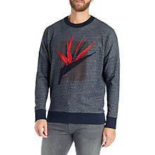 Buy BOSS Wow Jersey Relaxed Fit Sweatshirt, Dark Blue Online at johnlewis.com