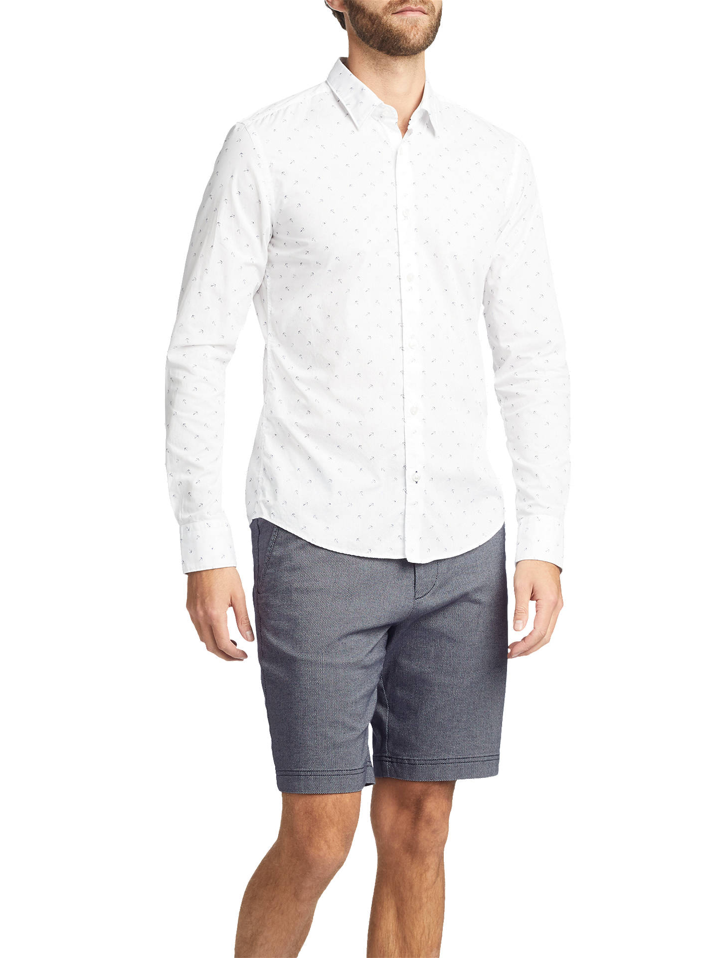 BuyBOSS Crigan Regular Fit Chino Shorts, Navy, 30R Online at johnlewis.com