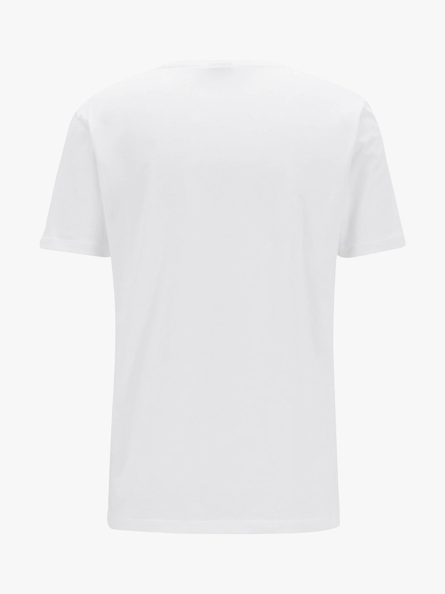 BuyBOSS Lecco Short Sleeve Cotton T-Shirt, White, XXL Online at johnlewis.com